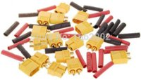 antenna current - 40 RC Connector Pair XT60 Male amp Female Shrink Tubing Yellow skid resistance golden High Current