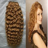 Pelo rubio brasileño de la pelo de la armadura de la miel del cabello 100g Textura brasileña rubia del pelo de la miel Yvonne Paquetes rizados brasileños de la armadura del pelo rizado rizado