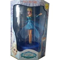 Wholesale New Flying Infrared Induction LED Frozen Doll Frozen Princess Toys Induction Flying Fairy Frozen Toys Flying Frozen