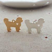 bichon mix - Boutique mix MM DIY alloy fashion bulk metal bichon frise Dog charms k gold silver plated pet collar pendant animal jewelry making