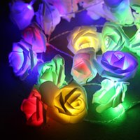 Wholesale High LED Pink Rose Flower Battery Operated Fairy Light Wedding Bedroom Decor m