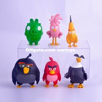 big bird cake - 2016 New Arrival Angry Bird Movie Action Figures Kinds Of Bird Ornaments Cake Doll Toys