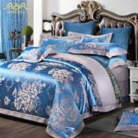 Wholesale ROMORUS Luxury Satin Jacquard Bedding Sets King Queen Size Duvet Cover Bed Linen Set Cotton Bed in a Bag Fundas Nordicas
