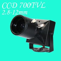 Wholesale 1 quot ccd tvl cctv analog camera mini camera HD mm varifocal lens metal case indoor use