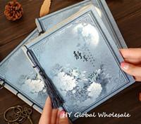 Nueva serie del estilo chino de la vendimia de las borlas de Kraft del papel del cuaderno / blanco Interior Páginas / libreta / nota almohadillas / al por mayor