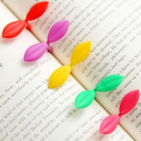Wholesale Fresh Style Small Leaves Flexible Bookmark School Office Home Supply Book Mark Gift Prize Stationery Material Escolar Papelaria