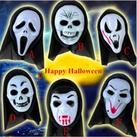 Wholesale Halloween Costumes Mask Scary Vampire Witch Ghost Face Scream Mask Skull Skeleton Halloween Masquerade Horror Masks