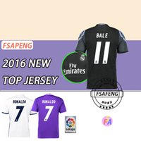 Wholesale new Real Madrid soccer jersey kroos Cristiano Ronaldo CR7 soccer jerseys bale james Benzema Sergio Ramos man football shirt