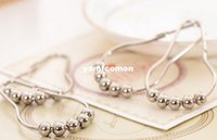 Wholesale Polished Satin Nickel Roller ball Shower Curtain Rings Curtain Hooks
