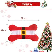 Wholesale Christmas Carpet Rugs For Dog Mat Seat Cushion Decoration bone design doormat pet cat mats
