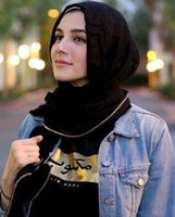 arabian style scarf - New Arabian women shawls linen cotton with zipper style islamic women hijab