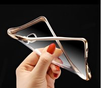 Wholesale Colorful Ultra Thin Clear Electroplating Plating TPU case transparent Silicone Back cover For iphone Plus S S Plus S Plus S7 Edge