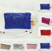 Wholesale 2016 pieces Fashion Womens sequins Handbag Clutch Bag Purse Bling Sequins Evening Party Wedding