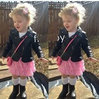 baby motorcycle jackets - 2016 Autumn New Arrival Autumn Children Short Coat Girls Fashion Motorcycle Leather Clothes Korean Style Kids Baby Girls Coat Clothes
