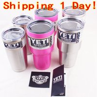 beer ship - 30oz oz oz Pink Yeti Coolers Cups YETI Rambler Tumbler Cup Cars Beer Mug Tumblerful Vacuum Insulated Stainless Steel Mugs Free Ship