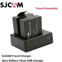 Cheap Original SJCAM Brand Battery Additional Battery For SJCAM Action Sports Camera 2PCS battery +1 USB Dual Battery Travel Charger