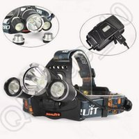 Wholesale 50pcs CCA4258 High Quality LM CREE XML T6 R5 LED Headlight Headlamp Hiking Flashlight Stirnlampe Torch Camping Fishing Light