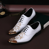 Wholesale 2016 Top selling white groom wedding shoes Oxford classic Italy men s shoes wedding man shoes white Italine United States size