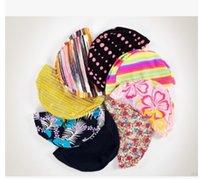 Wholesale Free Size Swimming Cap Polyester Protect Ears Long Hair Sports Swim Pool Hat for Men Women Adults Print Swim Caps
