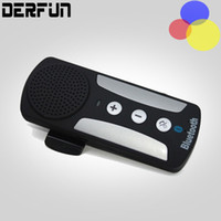 Wholesale Wireless Bluetooth In car Handsfree Car Kit Speakerphone Speaker For iPhone Samsung Smartphone with Sun Visor Clip Charger