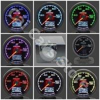 Wholesale GRe y Gauge Fuel Press Gauge GReddi Light Color LCD Display With Voltage Fuel Pressure mm Inch With Sensor Racing Gauge