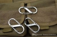 Wholesale E EDC Tool Shape Buckle Camping Hiking Outdoor Mountaineer Buckle Hanging Hook Clip Stainless Steel Keychain Key Hanging