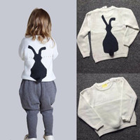 Wholesale 2016 winter girl pullover clothes brand style hot sell high quality solid rabit girl sweater size S XXL