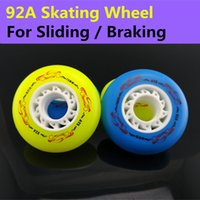 ats pc - A Braking Skate Wheels Original Ruffer ATS Inline Skates Wheel SEBA Patins Flint Powerslide Rollerblade