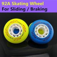 ats brake - A Braking Skate Wheels Original Ruffer ATS Inline Skates Wheel SEBA Patins Flint Powerslide Rollerblade