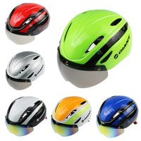 Wholesale GIANT Cycling Helmet Bicycle Helmet with Cycling Glasses Ultralight Integrally molded Road Mountain Bike Helmet