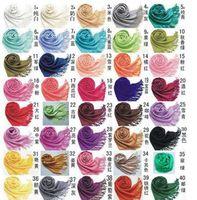 Wholesale colors Winter Women Pashmina Cashmere pashmina Silk Wrap Shawl Tassel Scarves