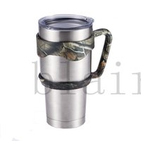 Wholesale DHL New Arrival Camouflage OZ YETI Rambler Handles YETI Rambler Tumbler Rtic SIC Stainless Steel Cups Handles Gifts to Your Cup