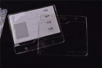 100шт L-804 Очистить Пластиковые Горизонтальные Имя тегов знак Id карты Держатели размер: 112мм Толщина * 94мм: 0.36mm