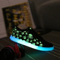 basketball usb - 2016 new skeleton shoes USB Rechargeable LED Light Colors Luminous Shoes Led Shoes in Europe and America flat shoes dance shoes tide