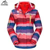 Wholesale Brand Ski Jacket Women Waterproof Fleece Warm Outdoor Snowboard Jacket Men Lovers Winter Snow Coat Hood Sport Ski Clothes