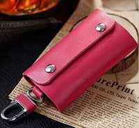 ans key - 2016 New Women and Men Casual key rings genuine leather key wallet fashion keys holder bag housekeepers cases ANS CL Y003