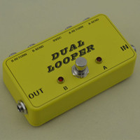 Wholesale NEW Dual Effects Loop Bypass Pedal Guitar Double True Bypass Looper for pedalboa BRAND NEW CONDITION