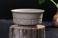 Wholesale 5Pcs Ceramics Chinese Historical Traditional Style Fine Clay Rock Mud Tea Cup