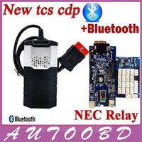 automotive relay board - 2014 R2 with Keygen TCS CDP with bluetooth Quality A NEC Relays Double Blue board PCB New Vci For Cars Trucks CDP OBD2 scanner