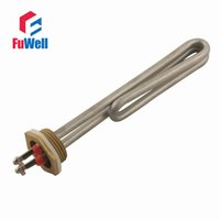 copper pipe - 1 Inch Stainless Steel Copper Head Sauna Heating Tube V Electric Heater Pipe Water Boiler Heating Element