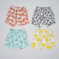bebe designer - New Arrival Popular Ins Fashion Short Pant Designer Tent Watermelon Grid Pattern Toddler Harem Pant Bebe Trousers
