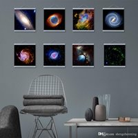 Wholesale Mild Art Photography Universe Series Set Hubble Space Nebulae Galaxy Milky Way Pop Posters Prints Bedroom Home Wall Decor Canvas Paintings