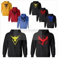 hoodies wholesale - Youth Pokemon Go Hoodies Poke Sweatshirts Pullover Fashion Pikachu Jacket Pokemon Coat Casual Pocket Monster Outwear Poke Mon Jumpers B515