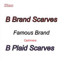 al por mayor pashmina scarf-Hot Classical Cachemira Imprimir B Plaid Con Logo Tag Bufanda Bufanda Bufanda Manta Poncho Cape Copy