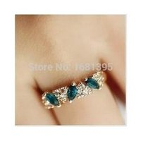 Wholesale Hot Sales fashion Vintage emerald Crystal ring for Women Jewelry CRYSTAL SHOP