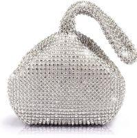 Wholesale Fashion Women Rhinestones Crystal Evening Clutch Bag Party Prom Wedding Purse Brand New Good Quality