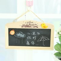Wholesale Korean Creative in Double face Hanging Blackboard Whiteboard Small Blackboards Wooden Mini Chalkboard For Note