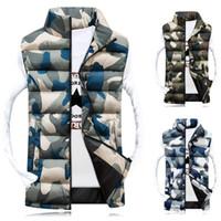 Wholesale Hot Selling Men Vest Warm Waistcoat Stylish Casual Camouflage Slim Jacket Sleeveless Outerwear Winter Military Vest WM0167