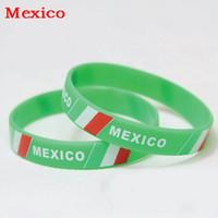 basketball mexico - Mexico Sports Bracelet Mexico Fans Silicone Wristbands Mexico Football Basketball Baseball Cheer Supplies Souvenir