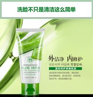 Wholesale Aloe hydrating repair cleanser Facial cleanser containment deeply clean moisturizing cosmetics quality goods